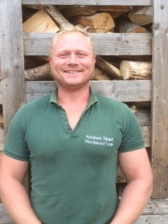 Alan helps to deliver firewood, coal, kindling and log stores from our real local farm.