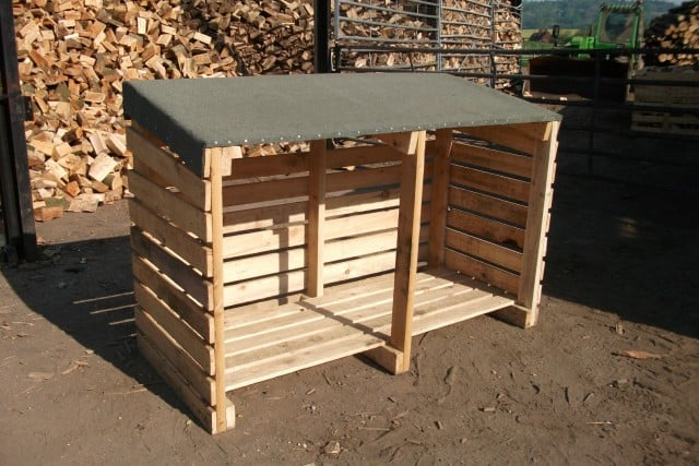 Our Firewood Hardwood Log Storage