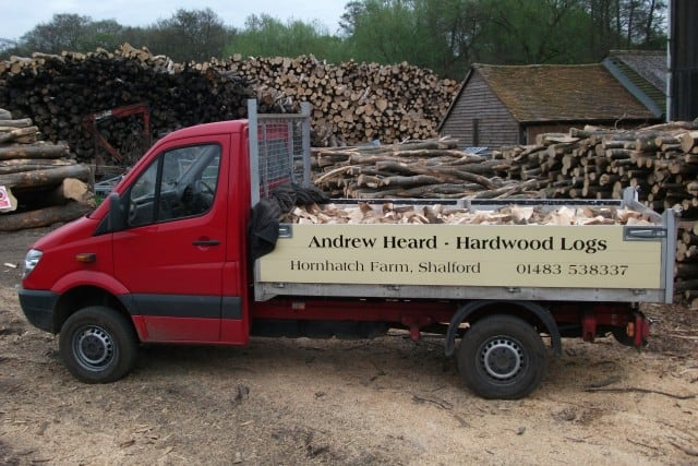 The Andrew Heard Hardwood Logs Van