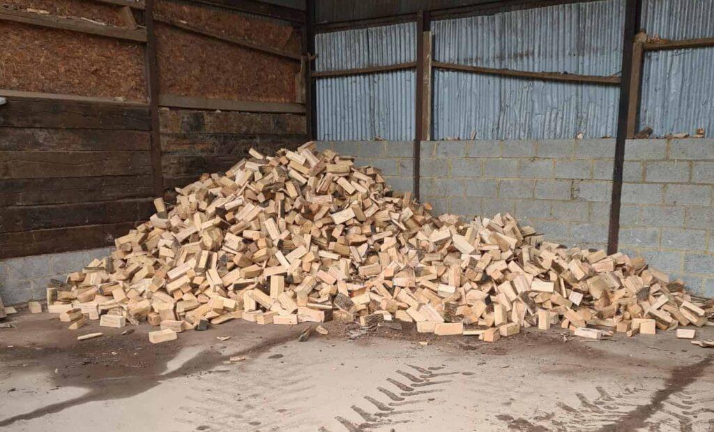 Loose filled logs